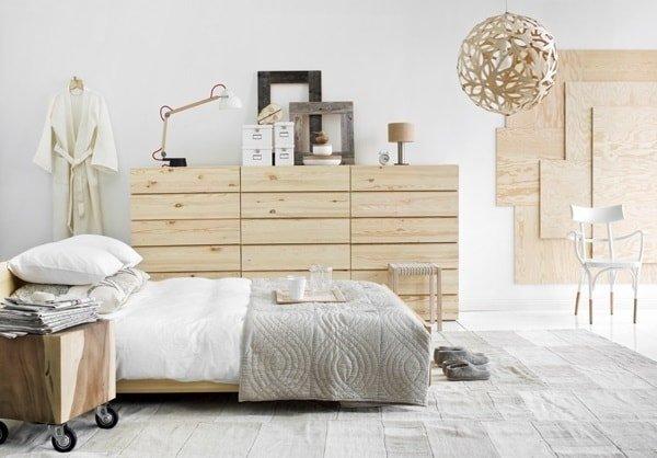Скандинавский дизайн интерьера спальни