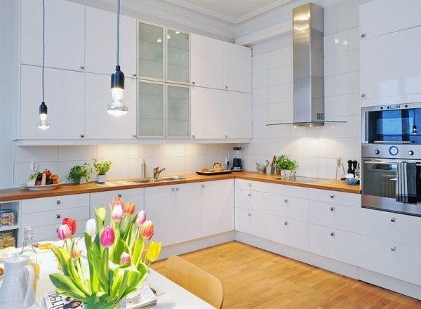 Скандинавский дизайн интерьера кухни