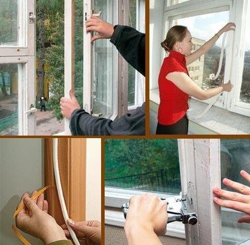 Утепление пластиковых окон на зиму своими руками