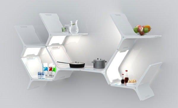 Кухонные полки для маленькой кухни