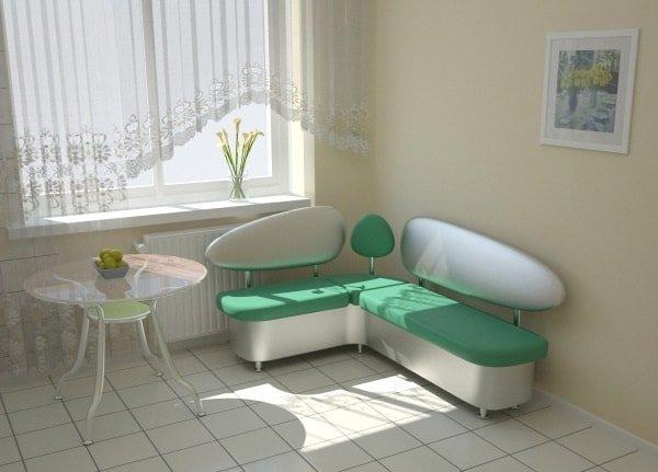 Угловой маленький диванчик на кухню