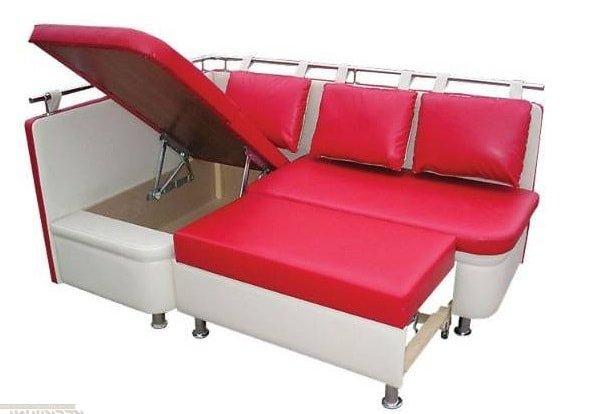 Маленький диванчик на кухню с дополнительным спальным местом