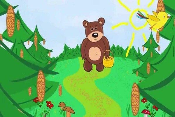 Мишка косолапый по лесу идет – стих и песенка