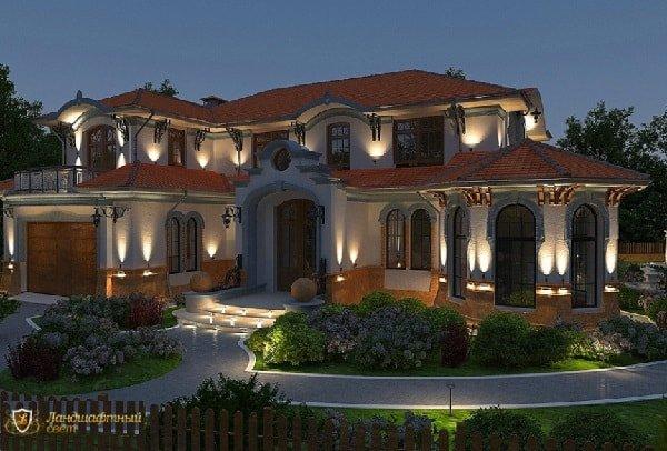 Подсветка фасада и эстетический вид здания
