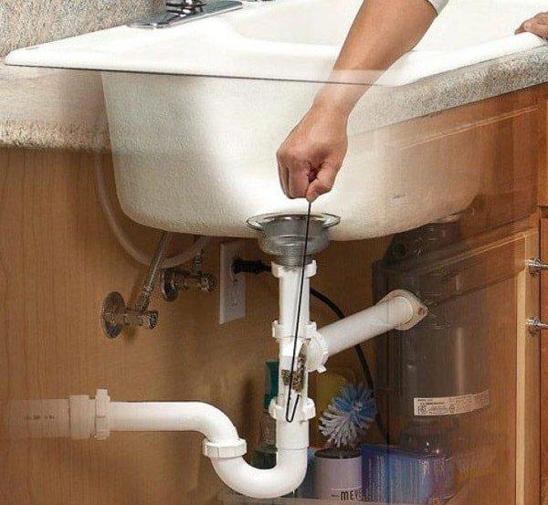 Прочистка труб канализации своими руками