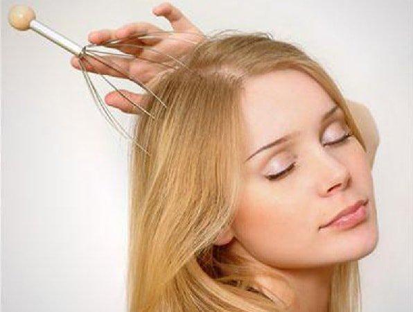 Восстановление волос массажем