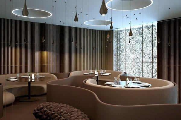 Интерьер и дизайн современного ресторана