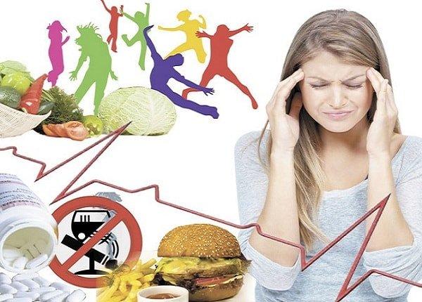 Питание при мигрени облегчит головную боль