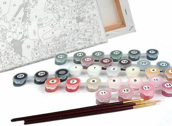 Как рисовать картины по номерам