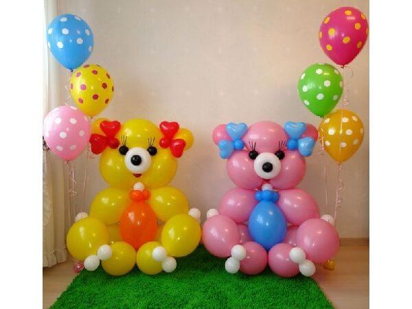 Фигуры из воздушных шаров для оформления праздников