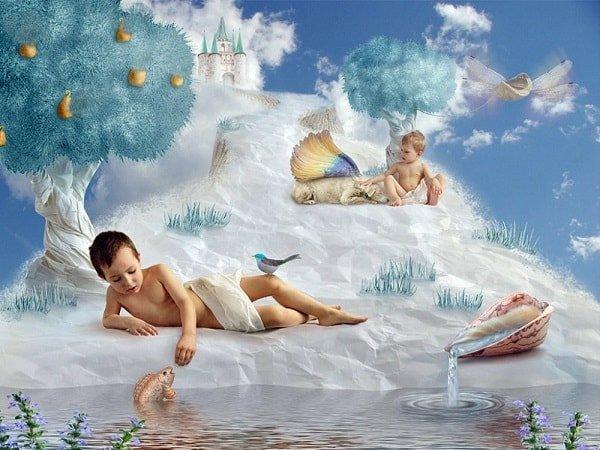 Рай окружает счастливое детство
