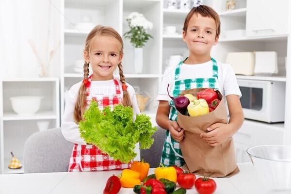 Дети вегетарианцы
