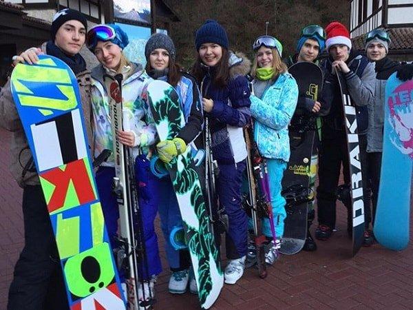 Начинающие сноубордисты