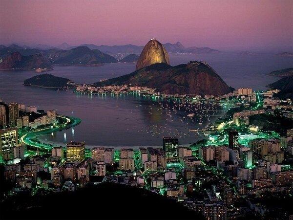 Гора Сахарная голова, Рио-де-Жанейро, Бразилия.