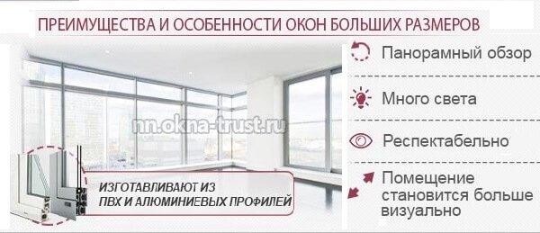 Большие окна в интерьере – плюсы