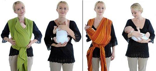 Слинг-шарф для новорожденного