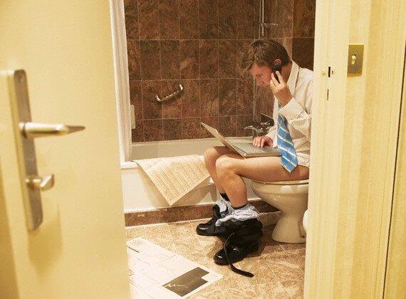 Туалет – последнее мужское убежище