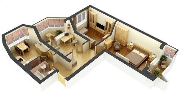 Заказываем интерьерный дизайн 3 комнатной квартиры