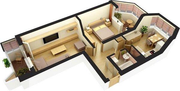 Заказываем интерьерный дизайн 2 комнатной квартиры