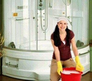 Как очистить душевую кабину от налета