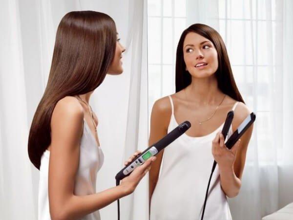 Как волосы сделать прямыми и гладкими?
