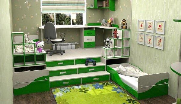 Встраиваемая мебель в детской комнате фото 1