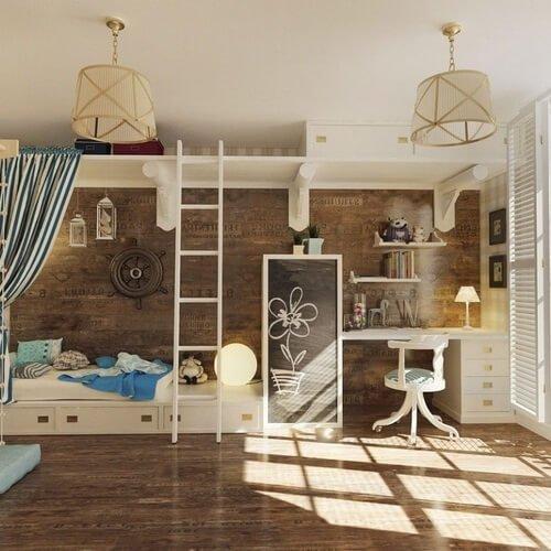 Встраиваемая мебель в детской комнате фото 3