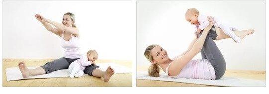 Как похудеть после родов кормящей маме упражнения.