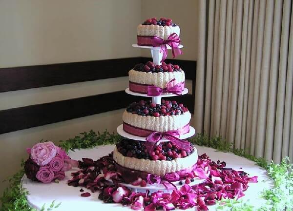Идеальный свадебный торт легкий из фруктов!