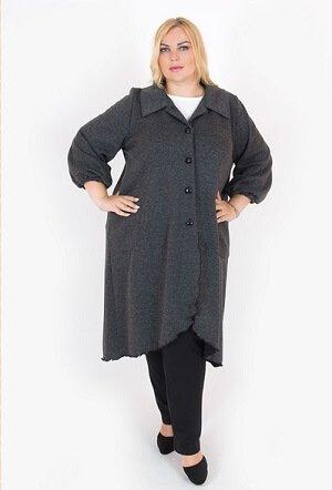 Осеннее пальто большого размера.