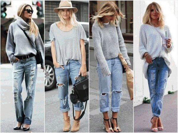 С чем носить рваные джинсы и как сочетать?