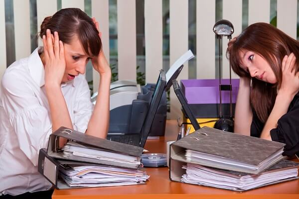 Стрессовая ситуация на работе.
