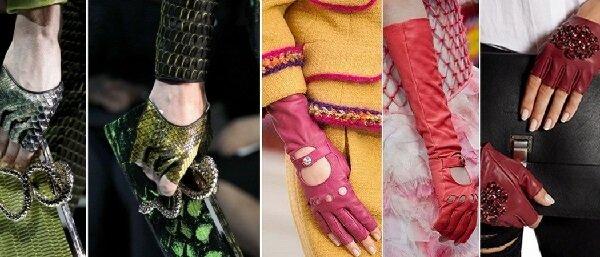 Модные женские перчатки 2017 года.
