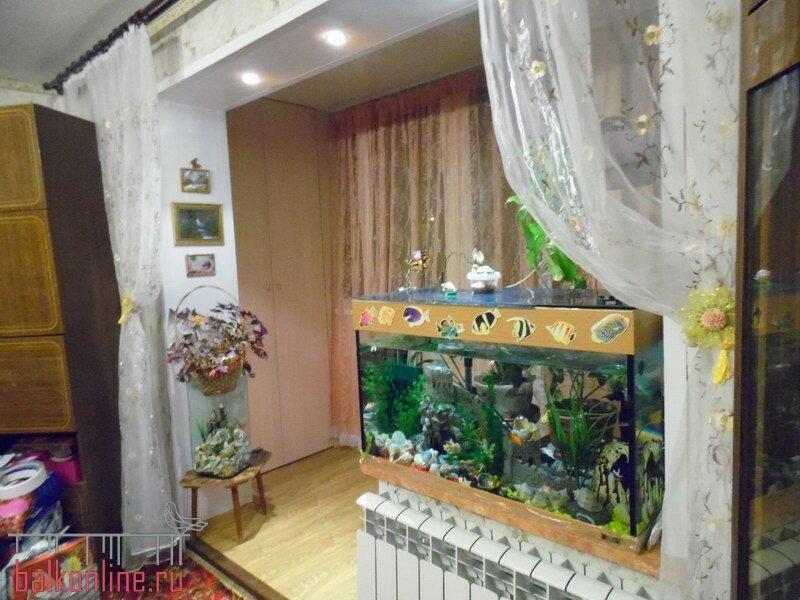 Фото каталог интерьеров и проектов: объединение комнаты с ло.