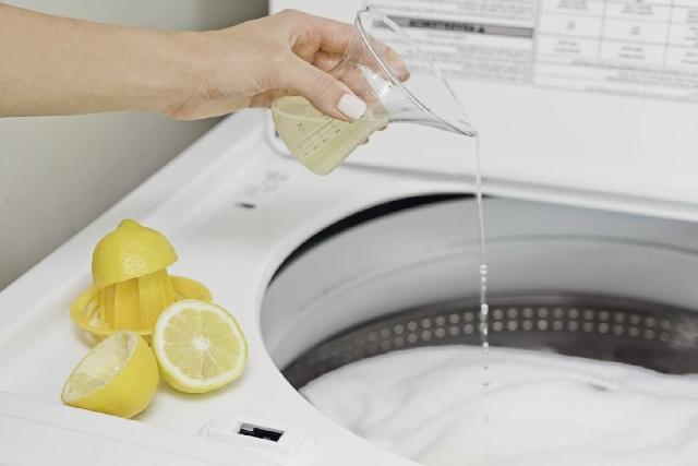 Сок лимона в стиральной машинке.