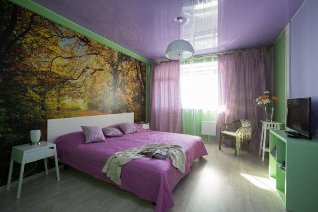 Спальня в зеленых тонах – варианты сочетания цветов.